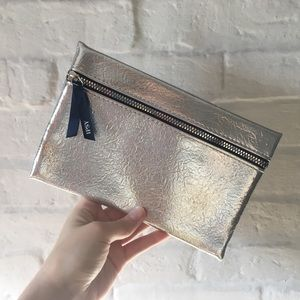 Ipsy December Glam Bag Metallic Silver Makeup Bag